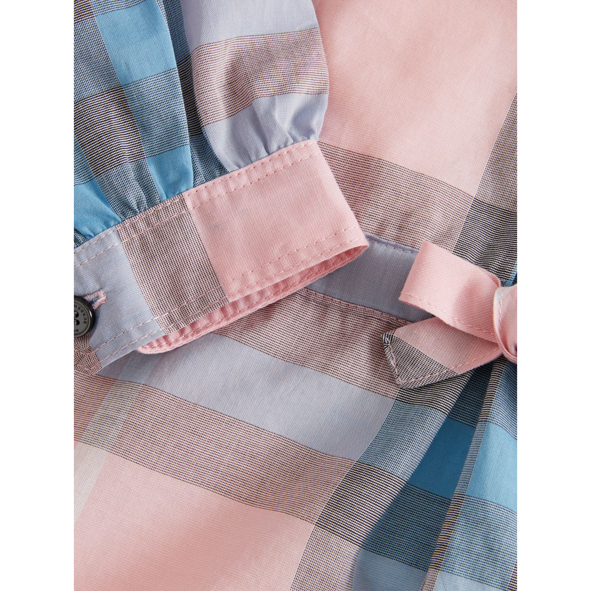 Check Cotton Shirt Dress in Ice Pink | Burberry - gallery image 1