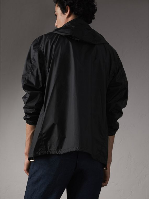 Hooded Super-lightweight Jacket in Black - Men | Burberry - cell image 2