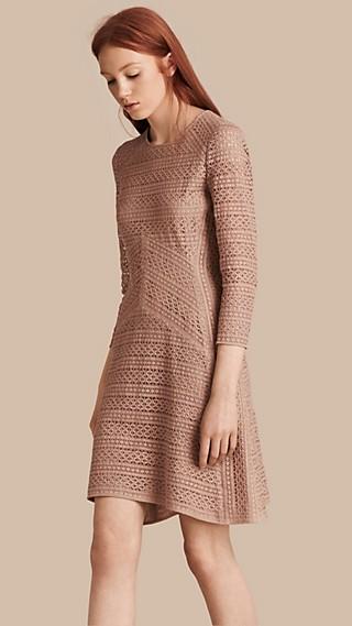 English Lace Panel Dress