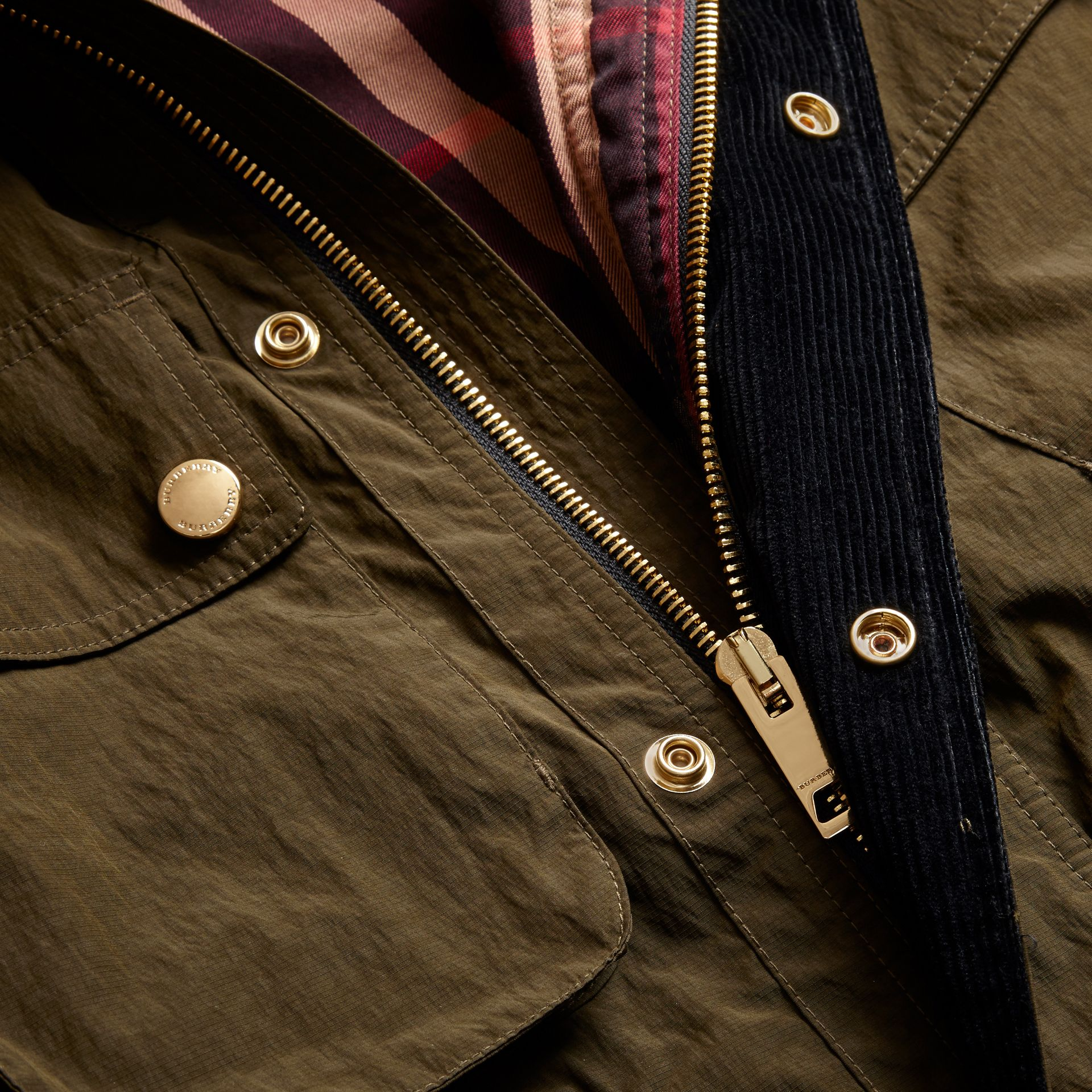 Diamond Quilt Detail Field Jacket - gallery image 2