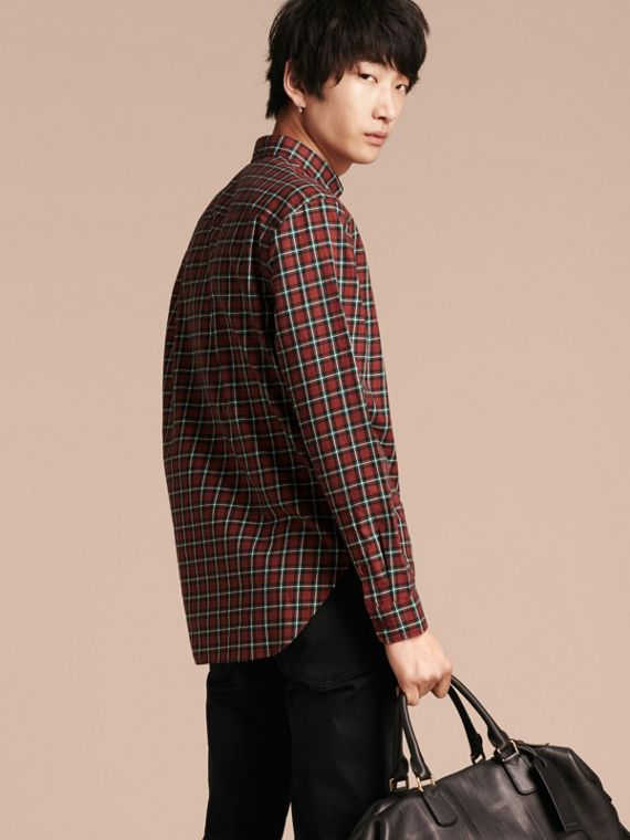 Parade red Tartan Cotton Twill Shirt Parade Red - cell image 2