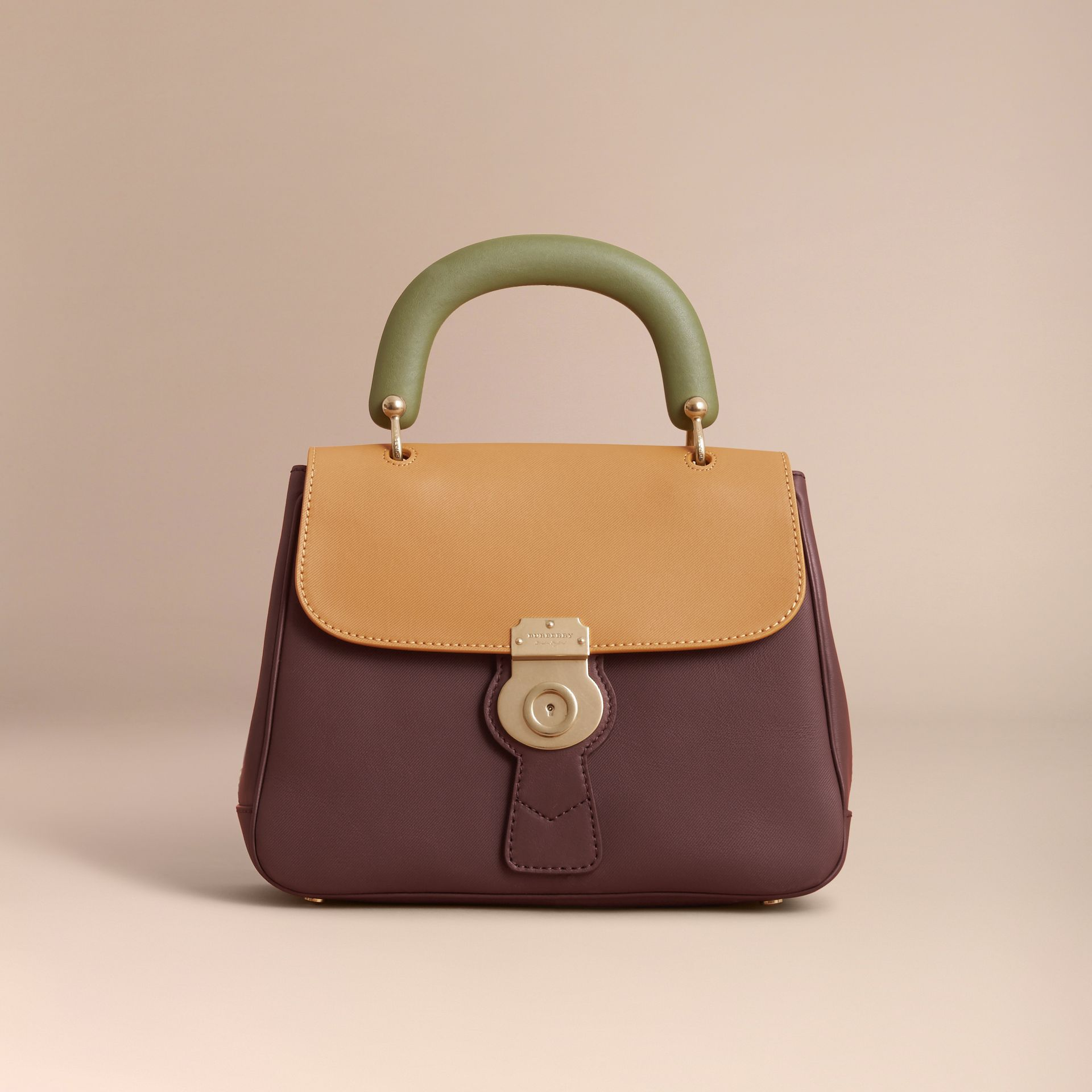 The Medium DK88 Top Handle Bag in Dark Chocolate/ochre Yellow - Women | Burberry - gallery image 7