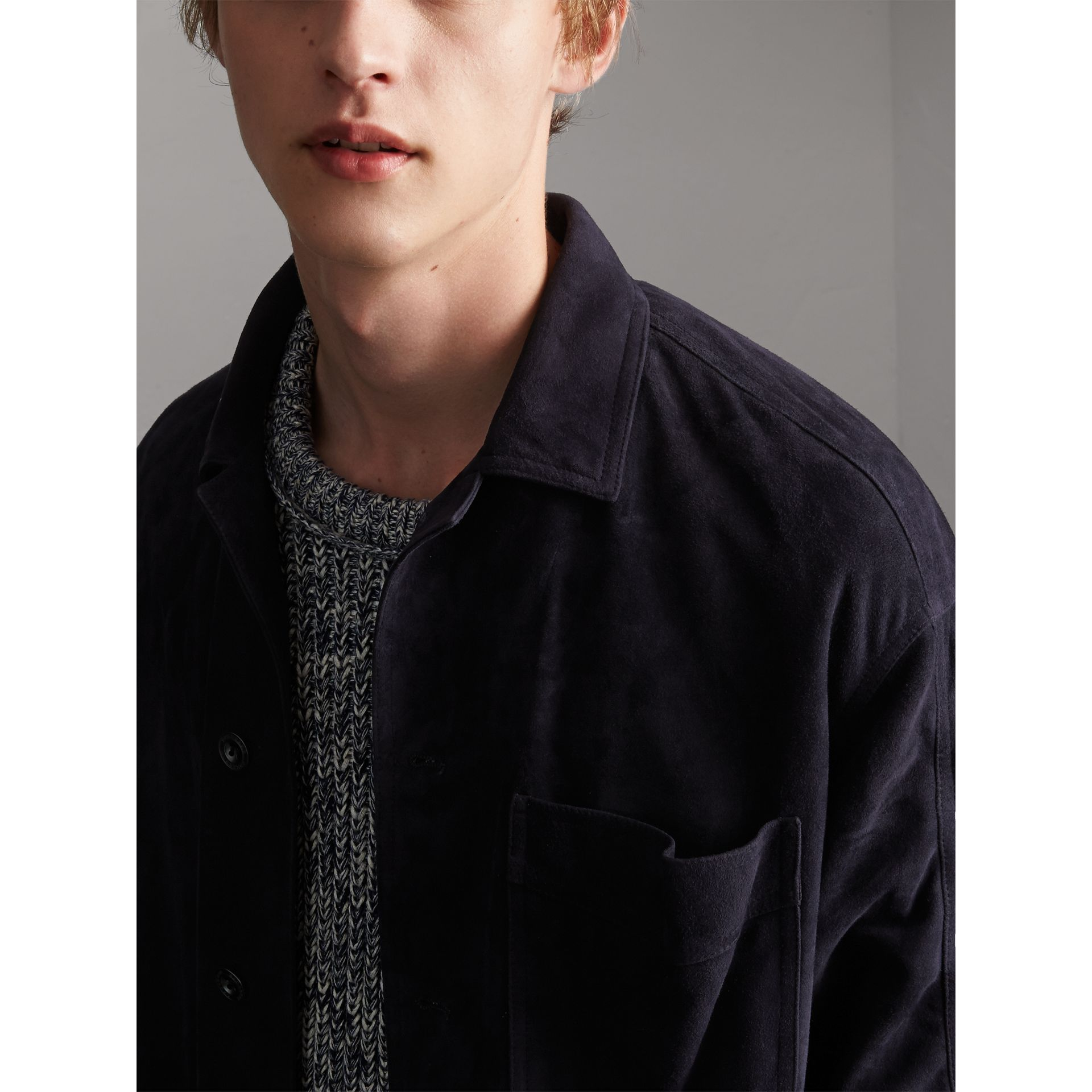 Suede Workwear Jacket - Men | Burberry - gallery image 2