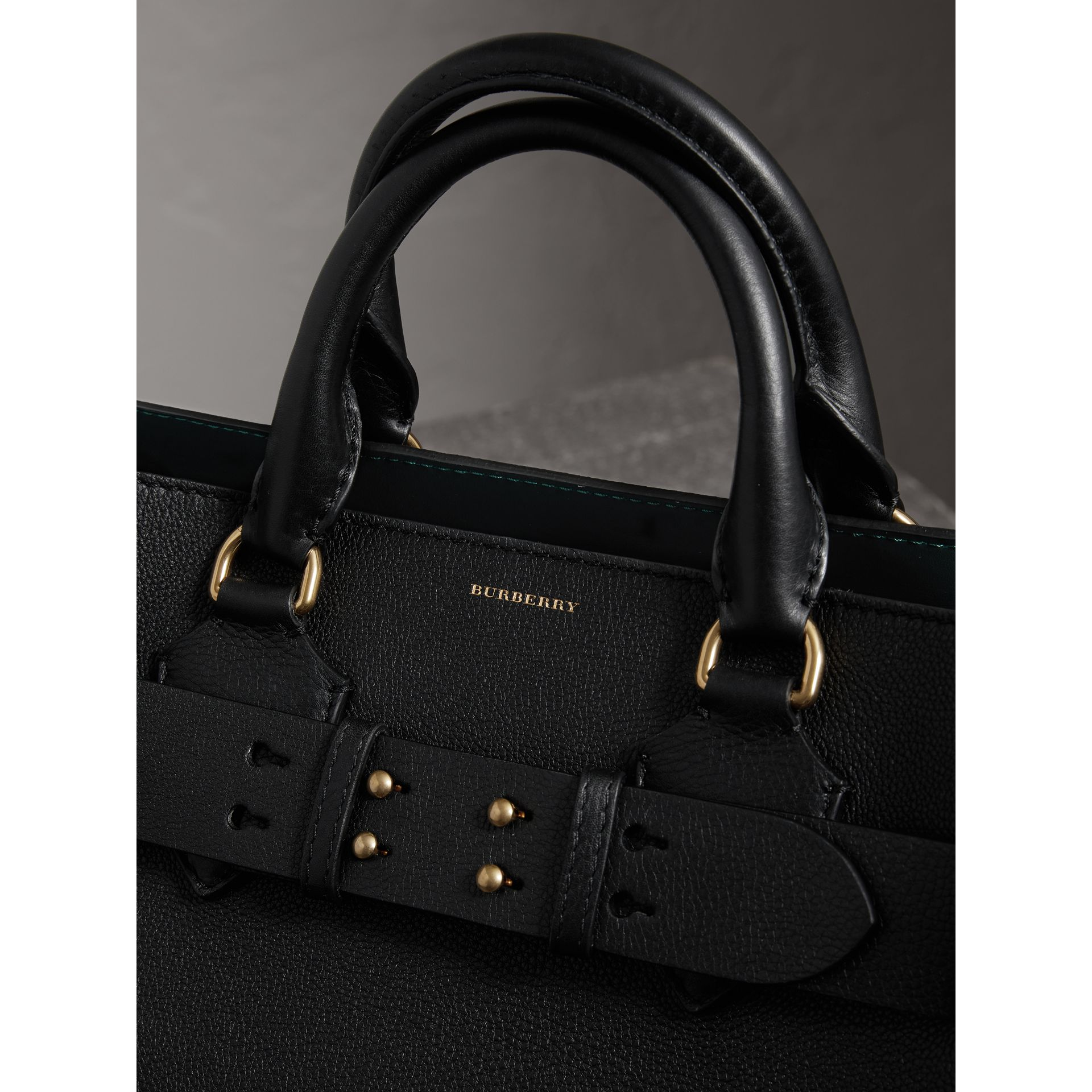 The Medium Leather Belt Bag in Black - Women | Burberry United Kingdom - gallery image 1