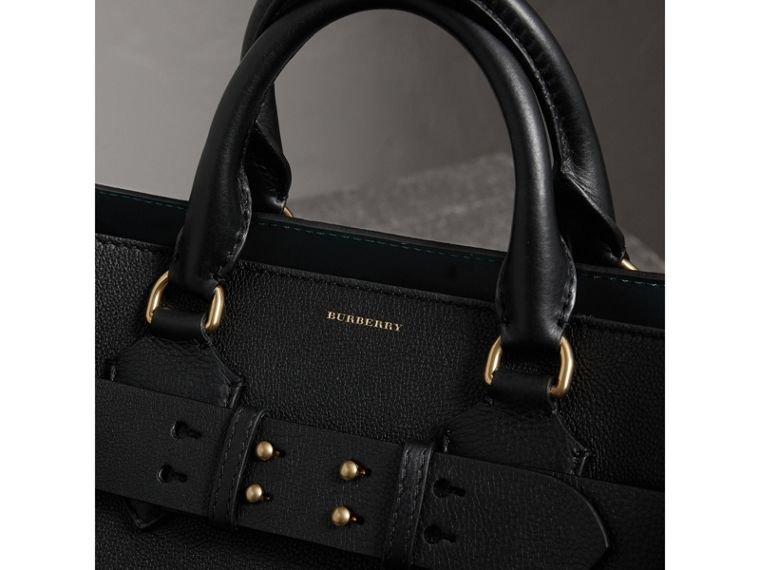 The Medium Leather Belt Bag in Black - Women | Burberry United Kingdom - cell image 1