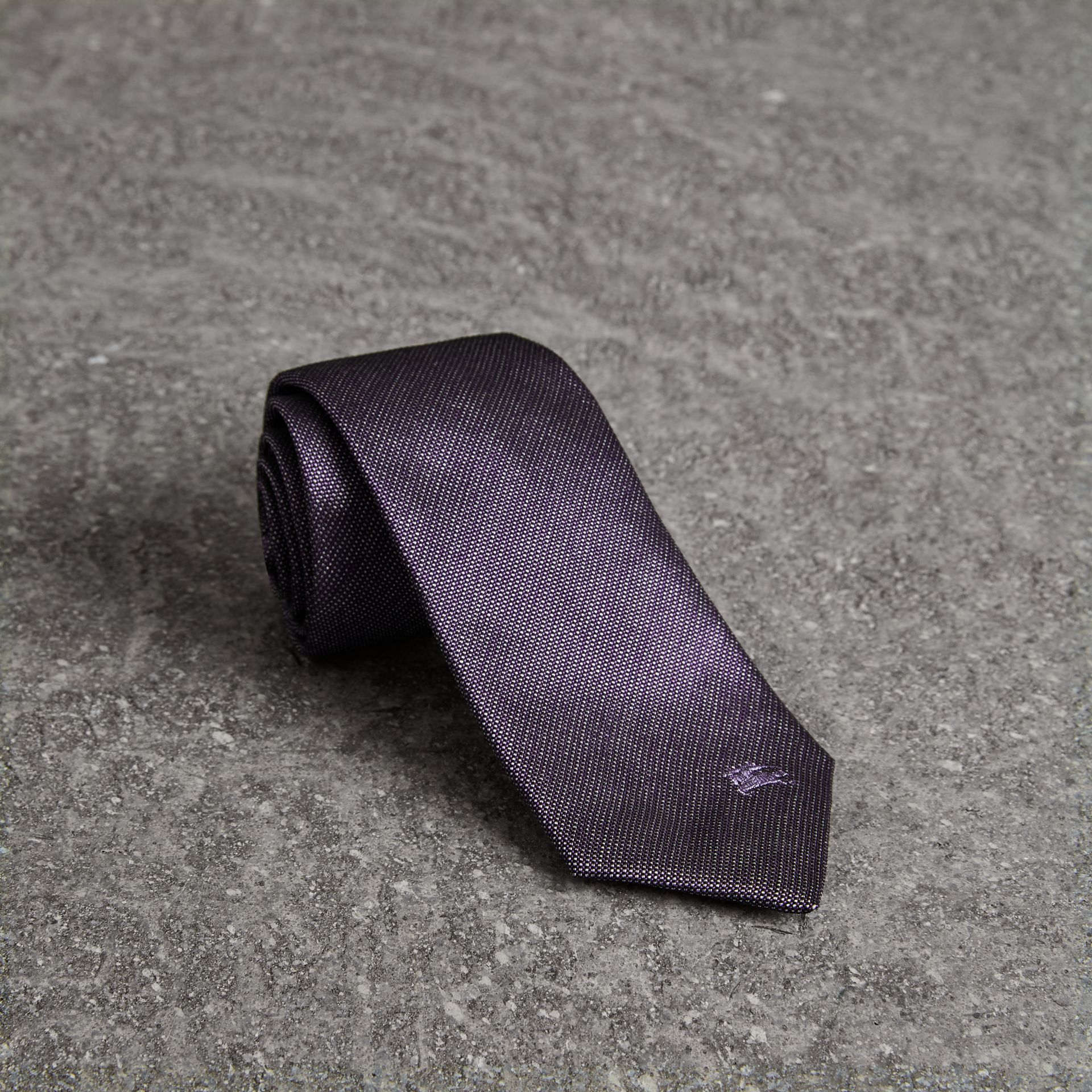 Modern Cut Silk Tie in Lilac - Men | Burberry Australia - gallery image 0