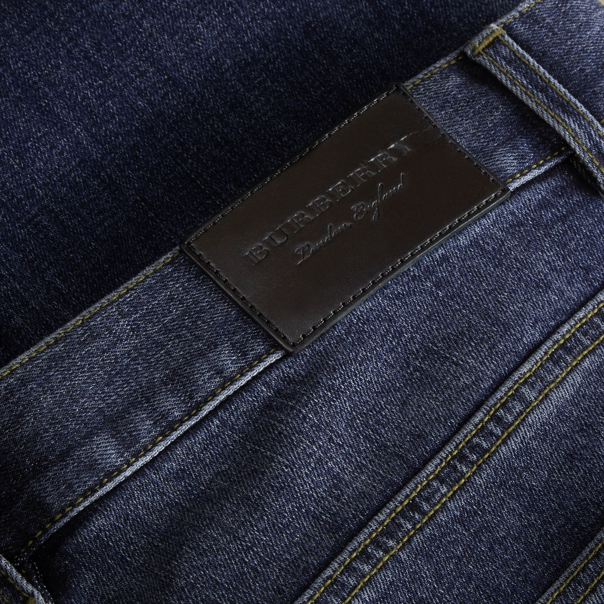 Relaxed Fit Japanese Stretch Denim Jeans - Men | Burberry - gallery image 2