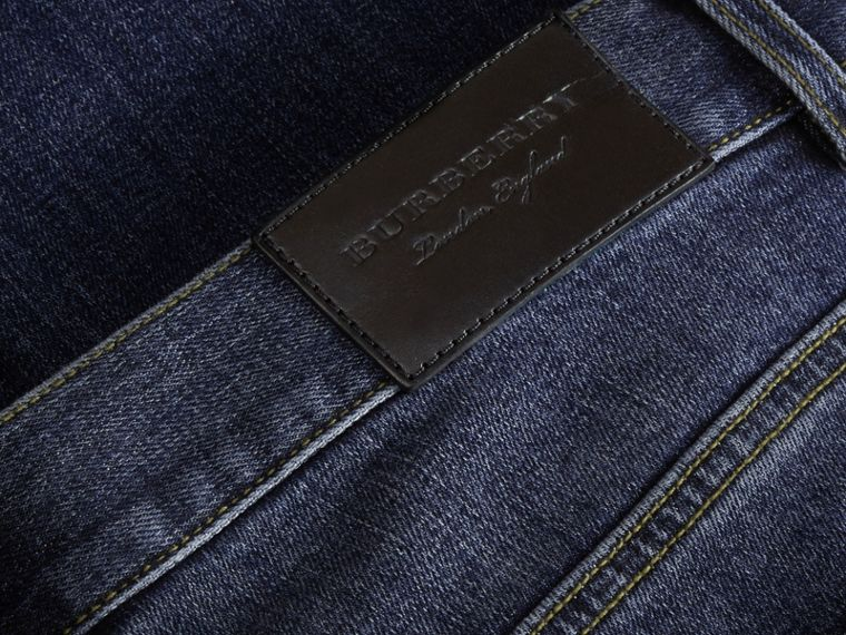 Relaxed Fit Japanese Stretch Denim Jeans - Men | Burberry - cell image 1