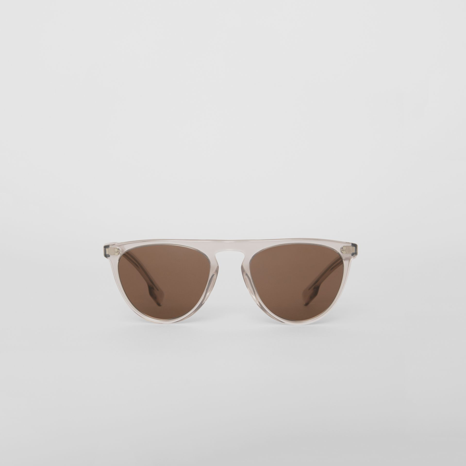 Keyhole D-shaped Sunglasses in Grey - Men | Burberry - gallery image 0