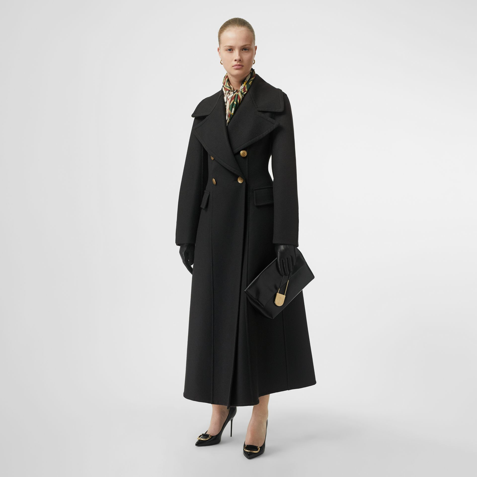 Doeskin Wool Tailored Coat in Dark Forest Green - Women | Burberry United Kingdom - gallery image 0