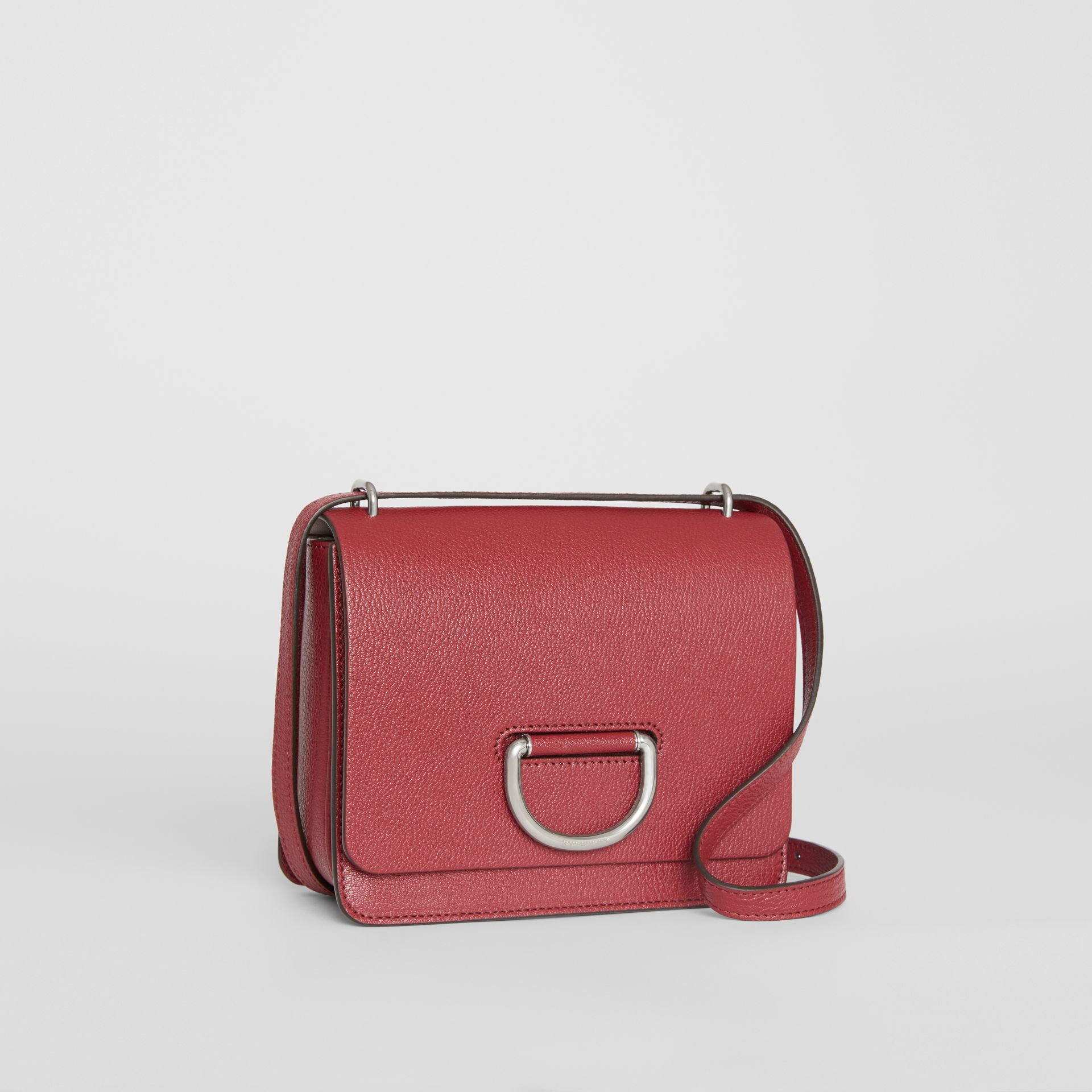 The Small Leather D-ring Bag in Crimson - Women | Burberry United Kingdom - gallery image 6