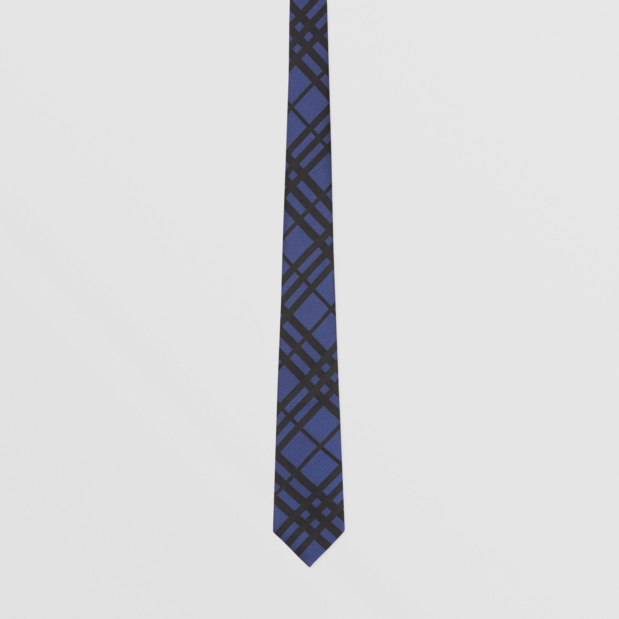 Classic Cut Check Silk Jacquard Tie in Canvas Blue - Men | Burberry - 4