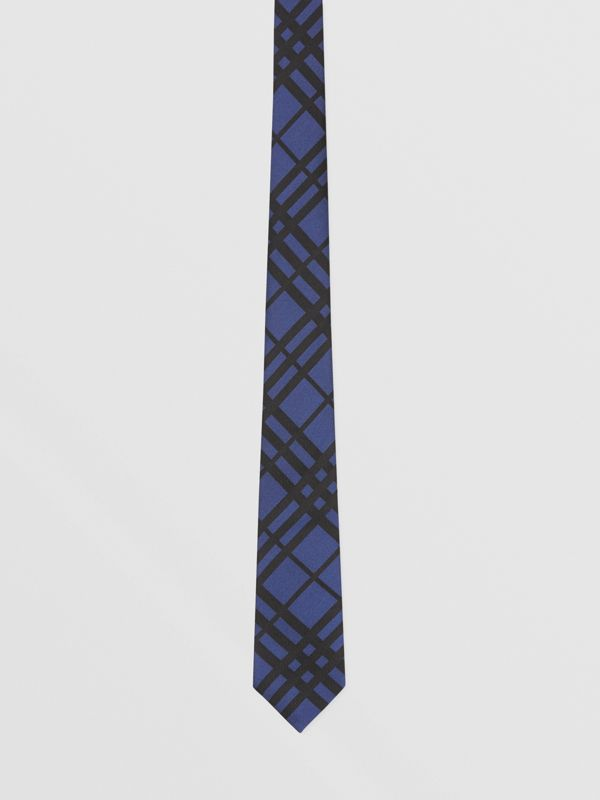 Classic Cut Check Silk Jacquard Tie in Canvas Blue - Men | Burberry Hong Kong S.A.R - cell image 3
