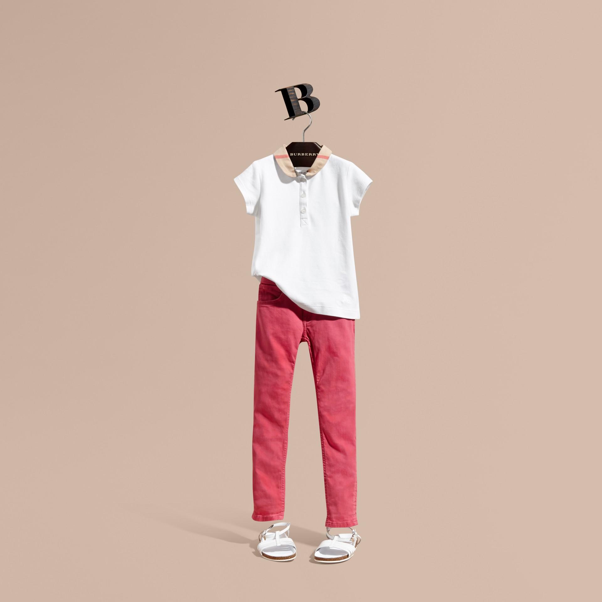 Skinny Fit Jeans Pink Azalea - gallery image 1