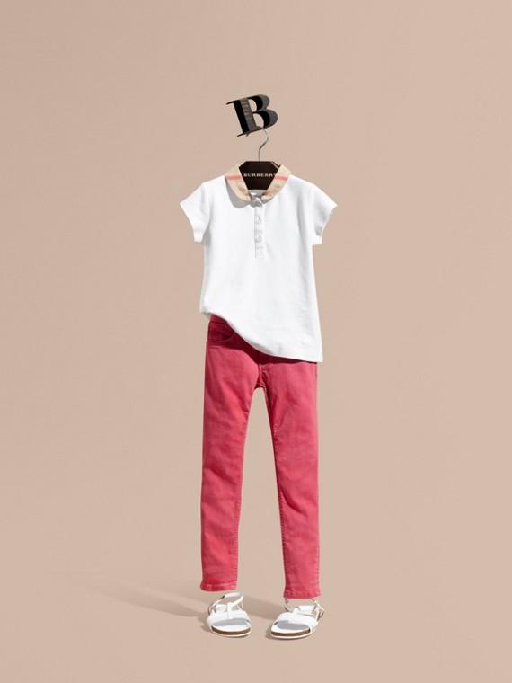 Skinny-Jeans Azaleenrosa