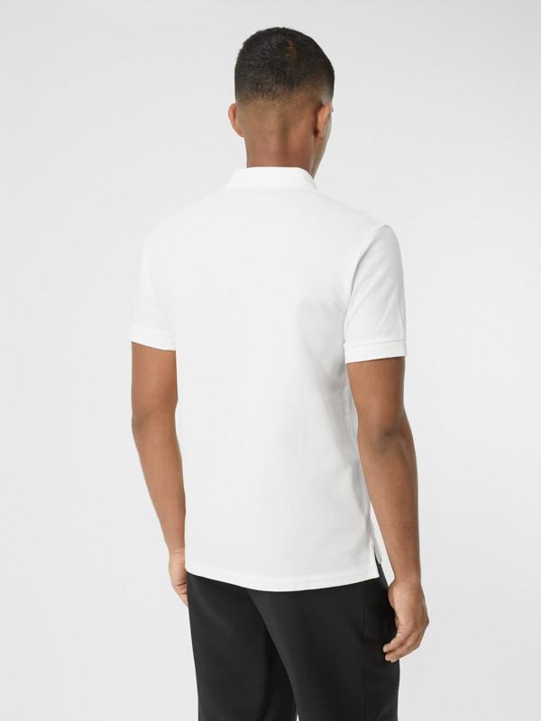 Cotton Piqué Polo Shirt in White - Men | Burberry - cell image 2