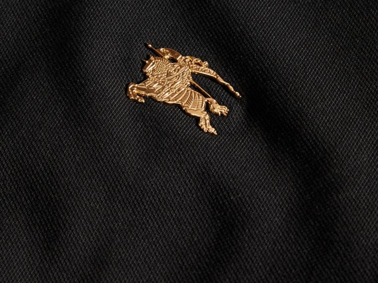 Black Stretch Cotton Piqué Polo Shirt Black - cell image 1
