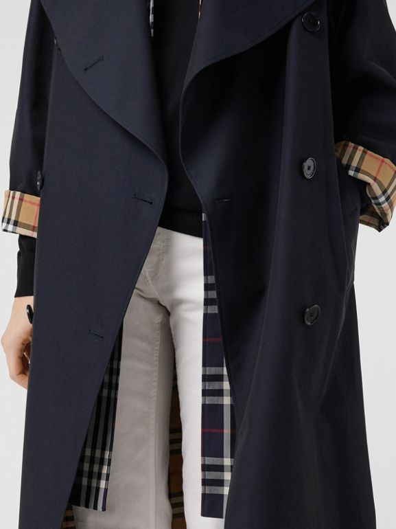 Double-Front Oversized Car Coat in Blue Carbon - Women | Burberry - cell image 1