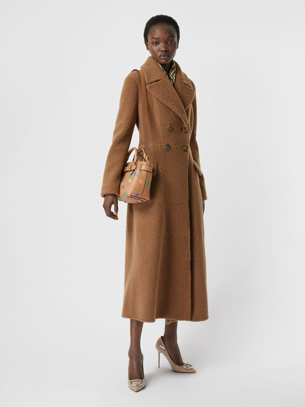 The Mini Equestrian Knight Leather Belt Bag in Light Camel - Women | Burberry United Kingdom - cell image 2