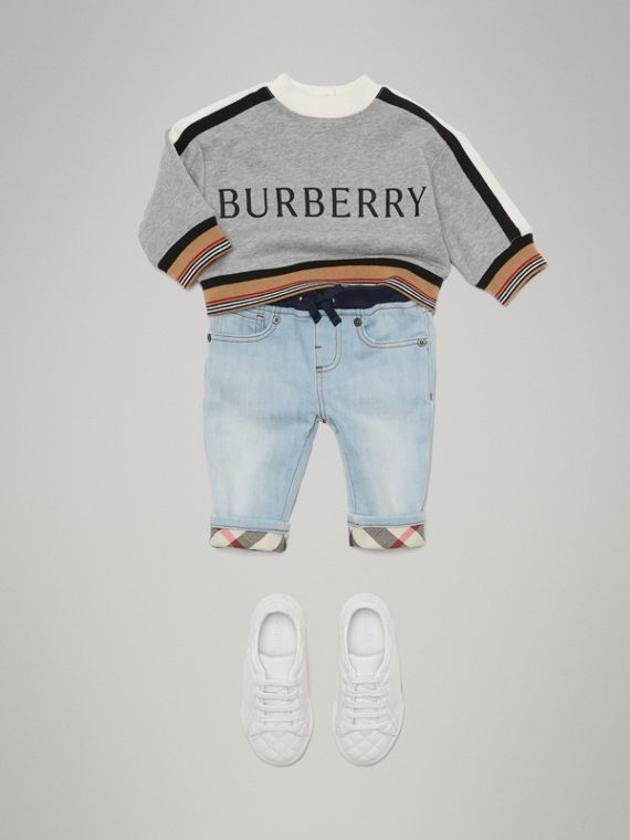 Relaxed Fit Pull-on Denim Jeans in Light Blue | Burberry - cell image 2