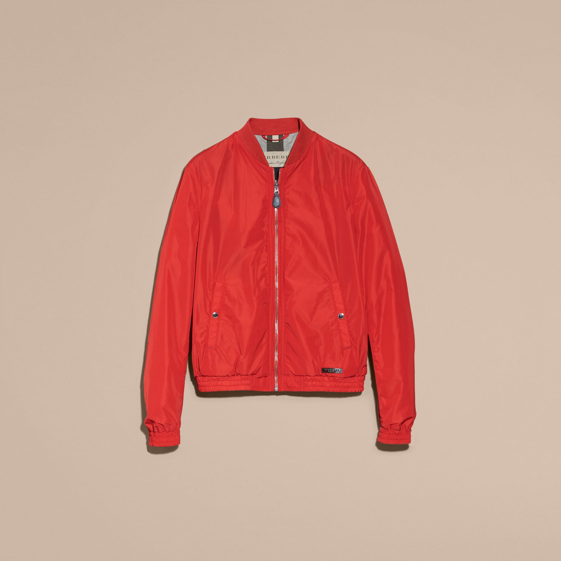 Orange red Showerproof Bomber Jacket - gallery image 4