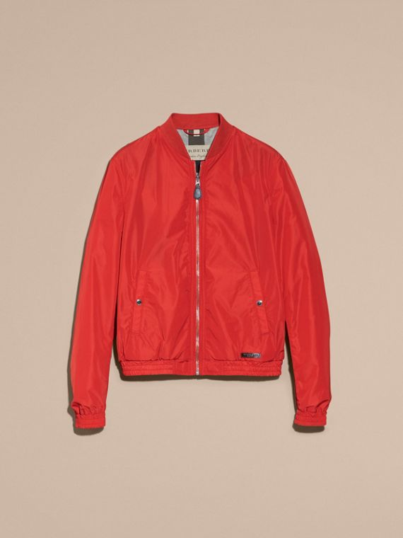 Orange red Showerproof Bomber Jacket - cell image 3