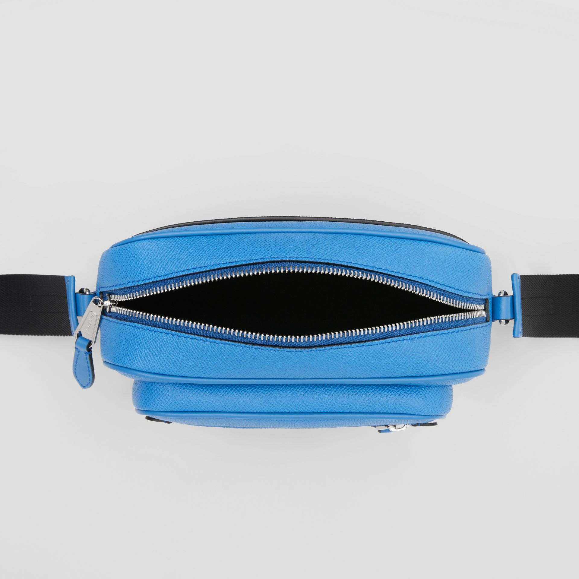 Grainy Leather Crossbody Bag in True Blue - Men | Burberry United Kingdom - gallery image 3