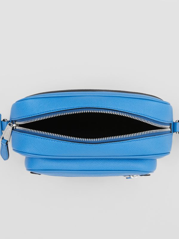 Grainy Leather Crossbody Bag in True Blue - Men | Burberry United Kingdom - cell image 3