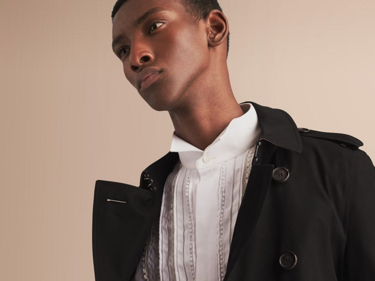 The Chelsea – Mid-length Heritage Trench Coat in Black - cell image 4