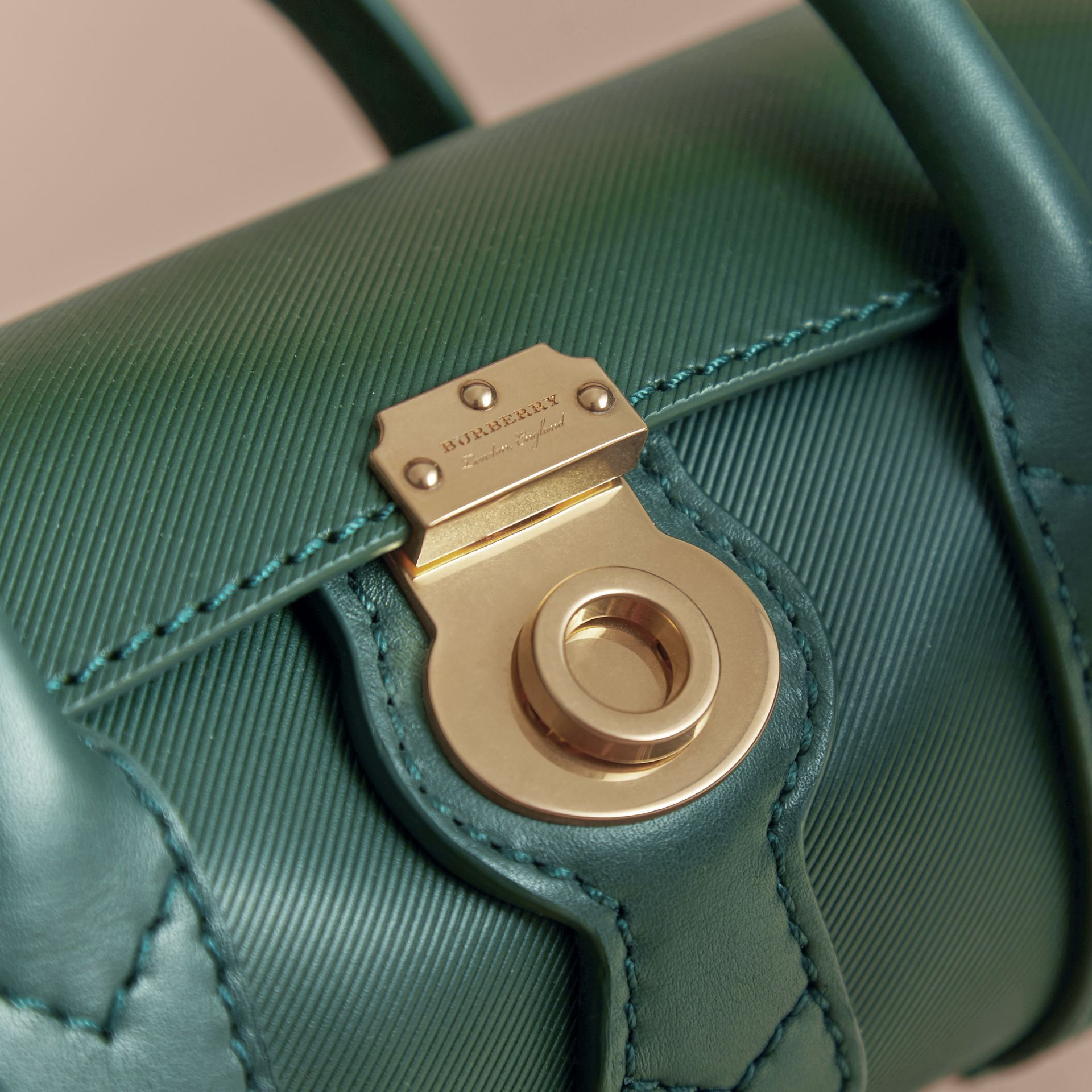 The Mini DK88 Barrel Bag in Dark Forest Green - Women | Burberry United States - gallery image 1