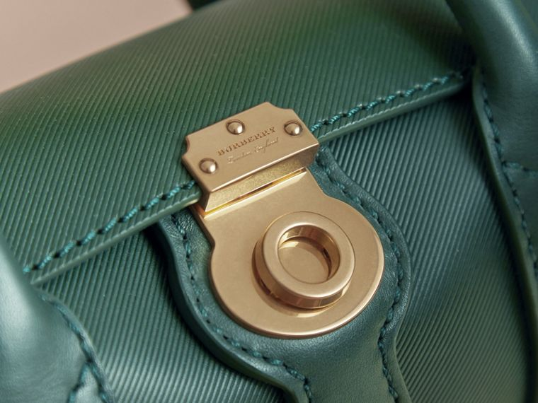 The Mini DK88 Barrel Bag in Dark Forest Green - Women | Burberry - cell image 1