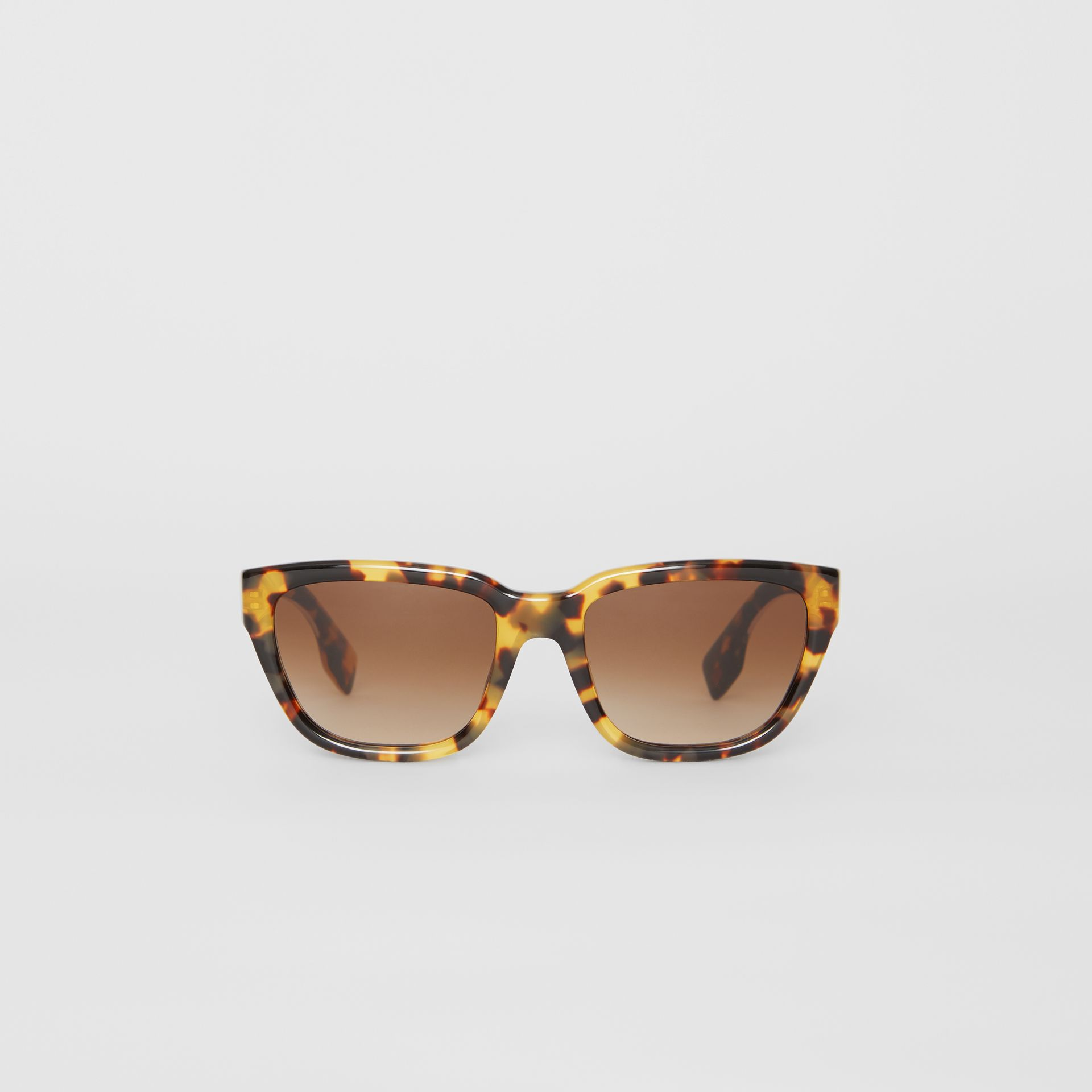 Square Frame Sunglasses in Tortoise Shell - Women | Burberry United Kingdom - gallery image 0