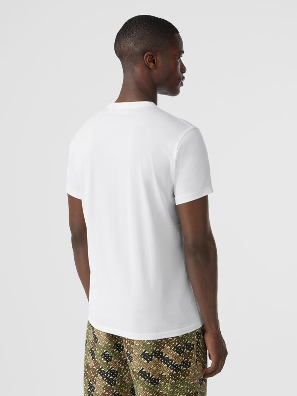 Monogram Motif Cotton T-shirt in White - Men | Burberry Canada - cell image 2