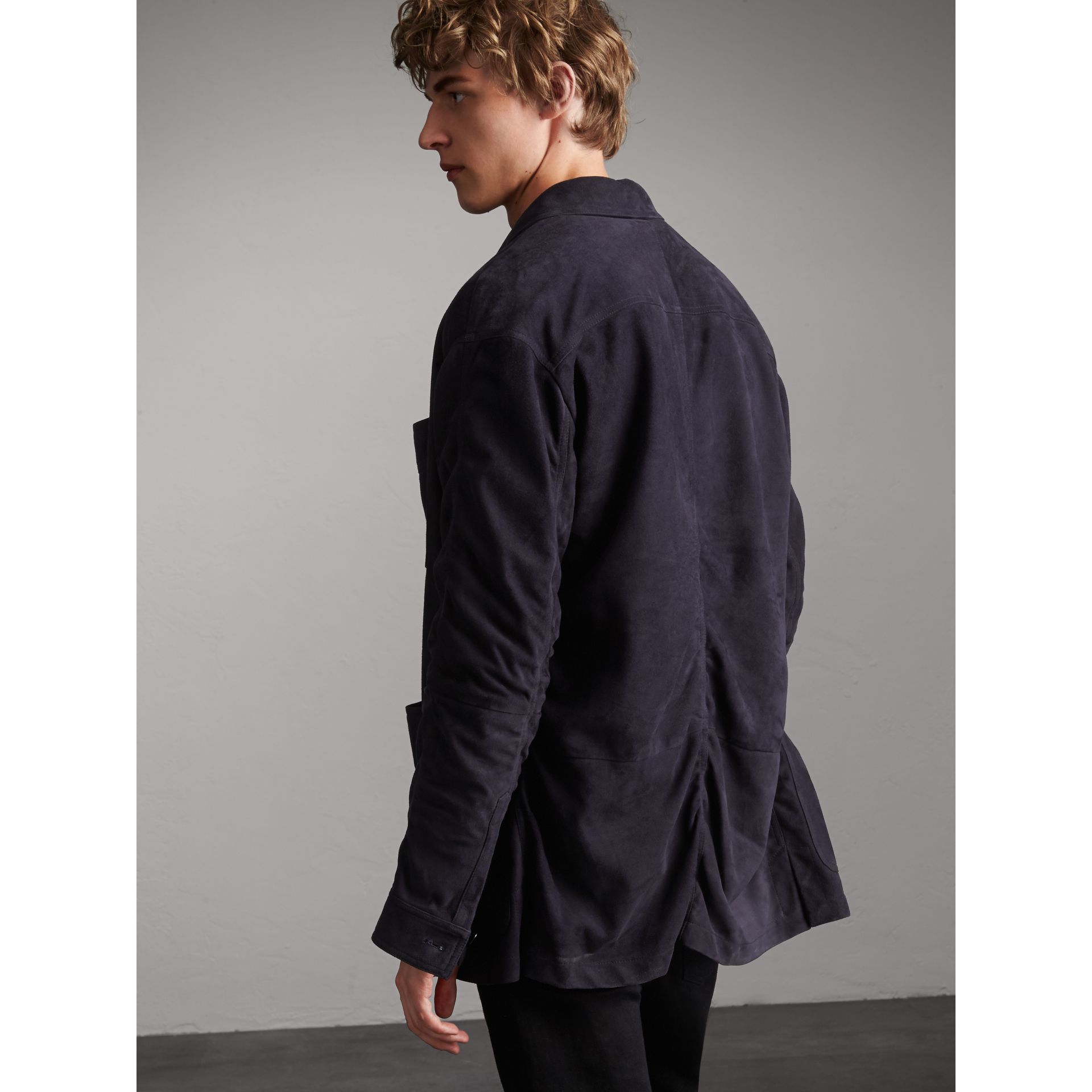 Suede Workwear Jacket - Men | Burberry - gallery image 3