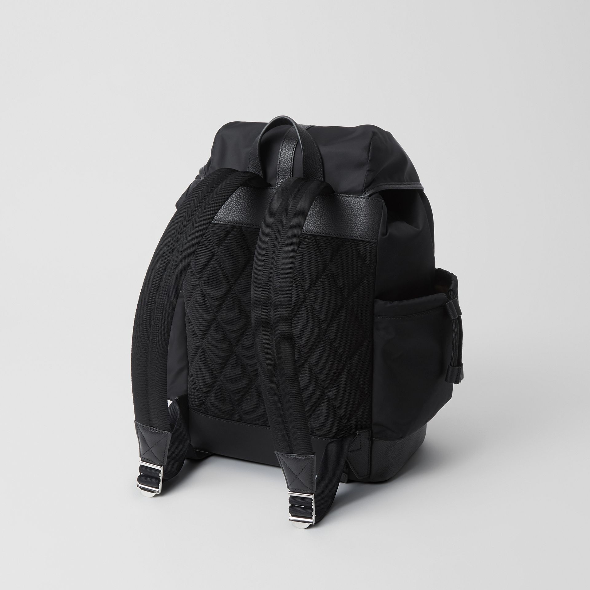 Leather Trim Baby Changing Rucksack in Black - Children | Burberry - gallery image 2