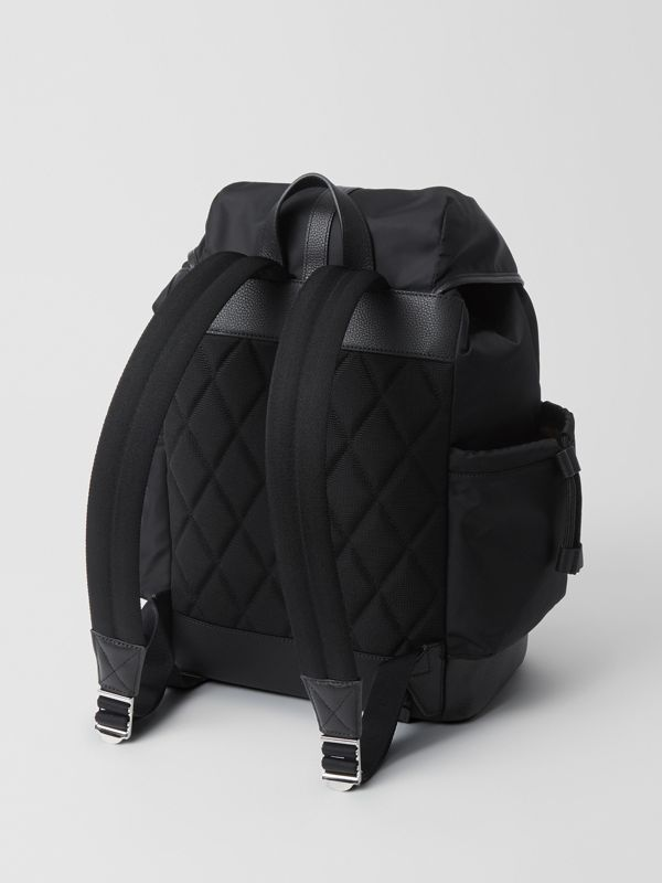 Leather Trim Baby Changing Rucksack in Black - Children | Burberry United States - cell image 2