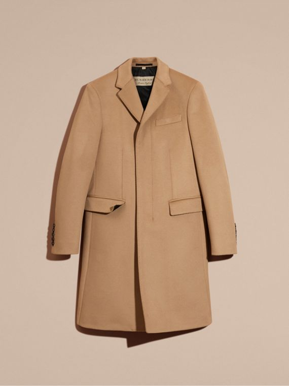 Camel Wool Cashmere Tailored Coat Camel - cell image 3