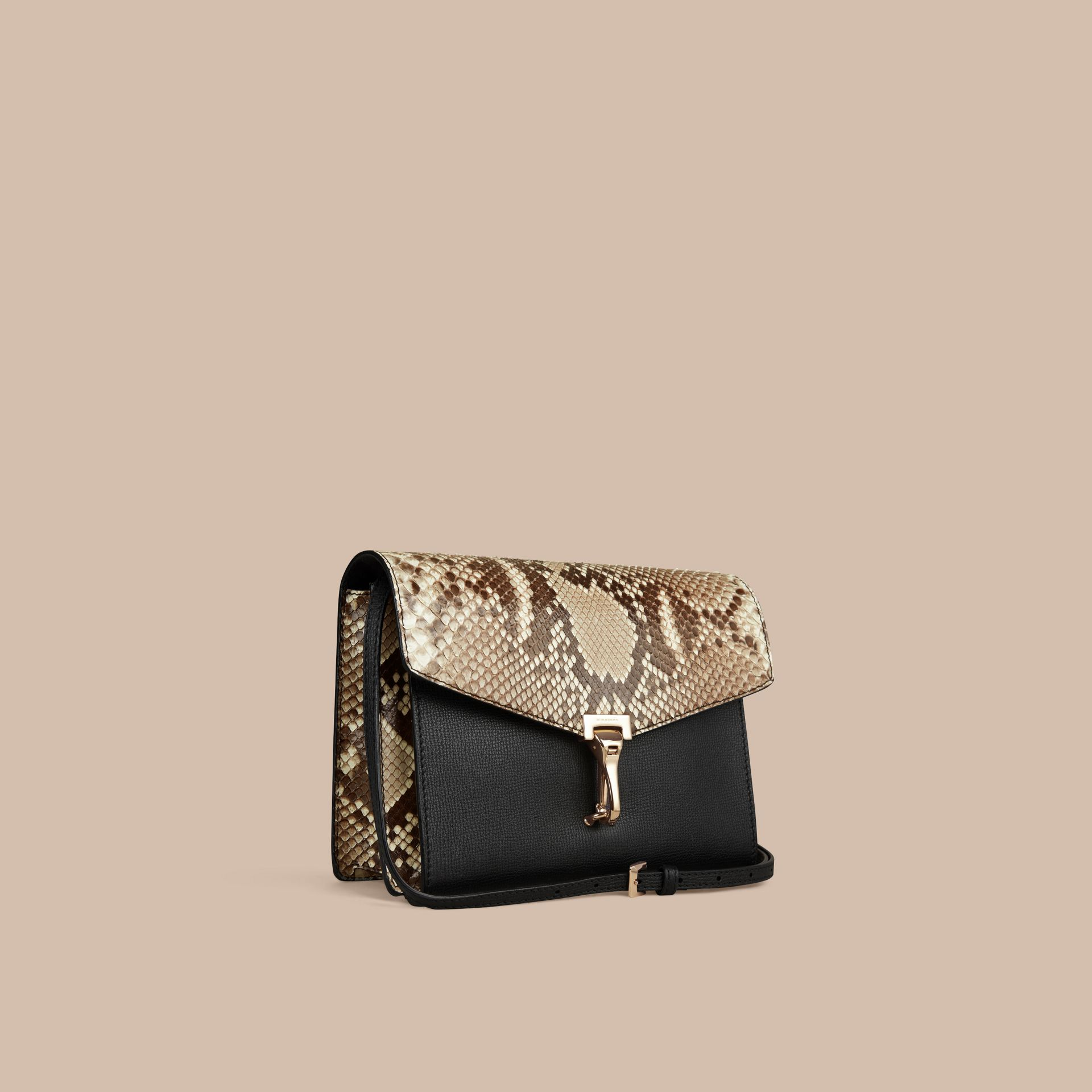 Natural Small Python Crossbody Bag - gallery image 1