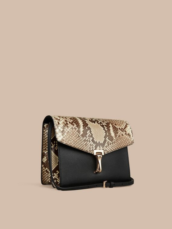 Small Python Crossbody Bag in Natural