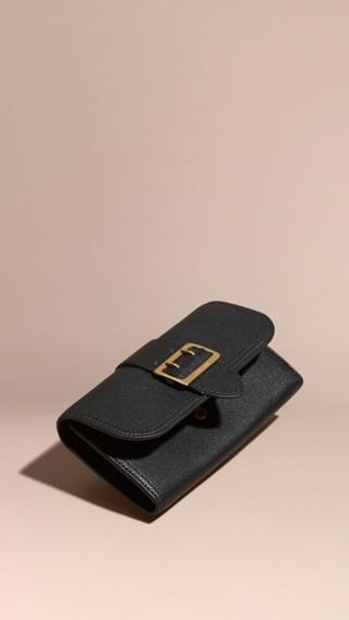 Portafoglio continental in pelle effetto texture