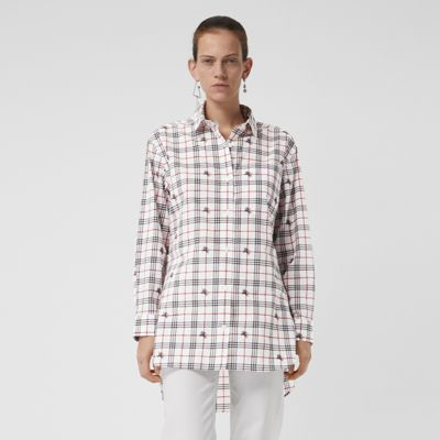 Equestrian Knight Check Cotton Shirt by Burberry