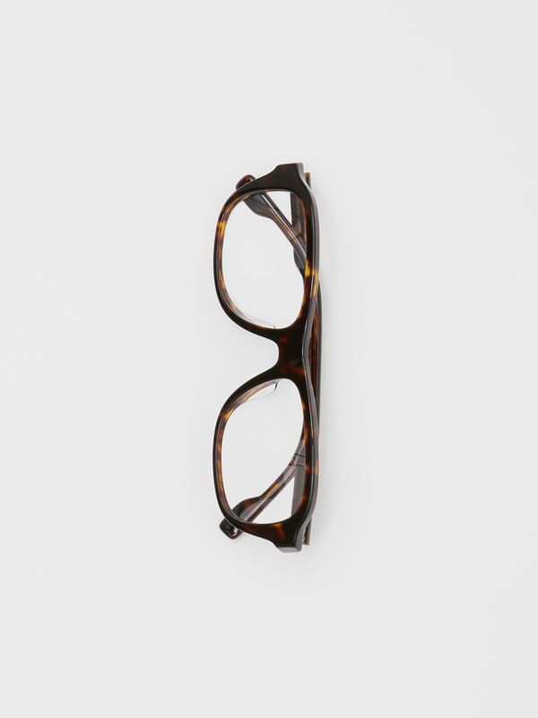 Rectangular Optical Frames in Tortoiseshell - Men | Burberry United Kingdom - cell image 3