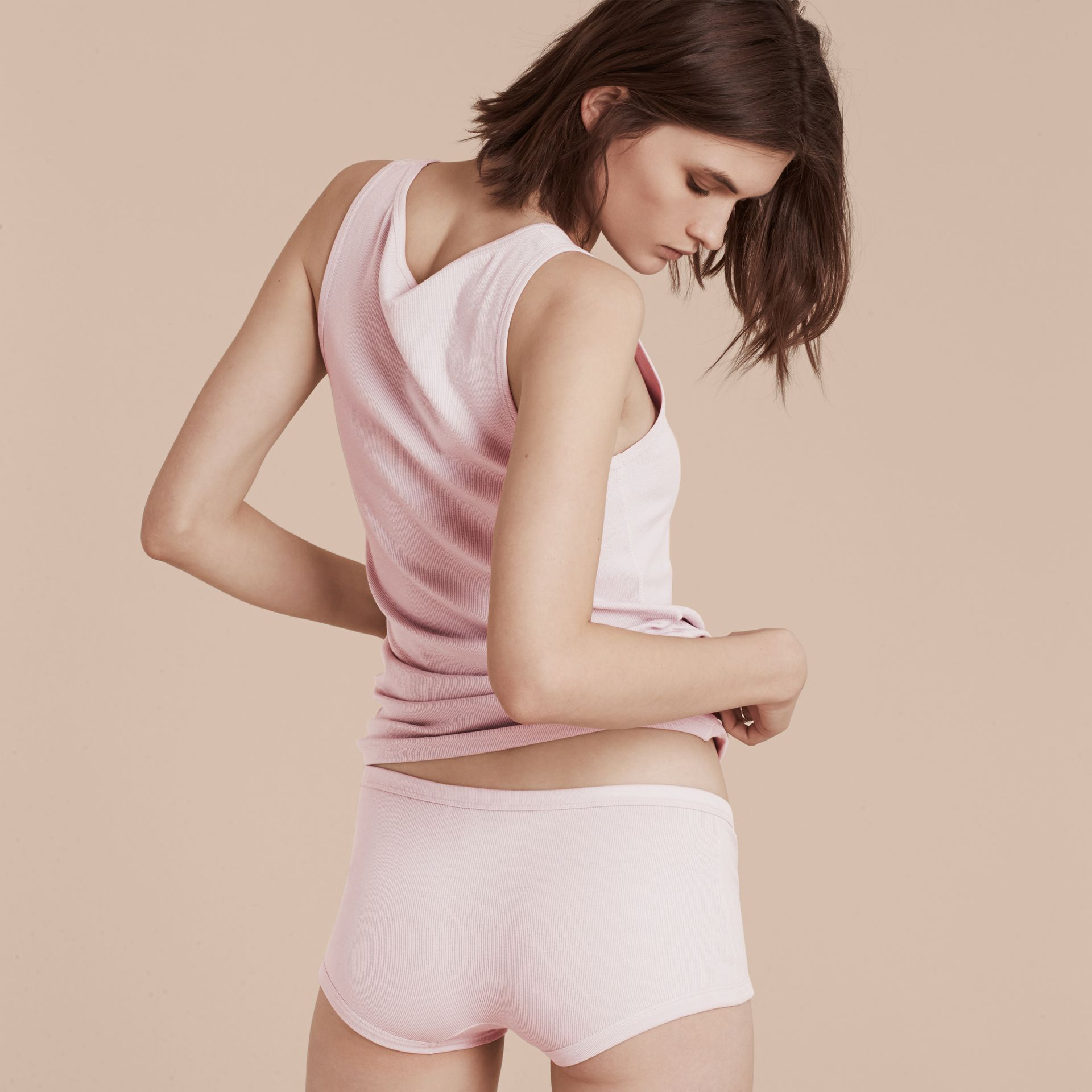 Pale pink Stretch Cotton Lyocell Boxer Briefs Pale Pink - gallery image 3