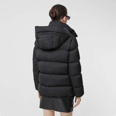 Wattierte Jacke aus ECONYL® mit abnehmbarer Kapuze (Schwarz) Damen | Burberry