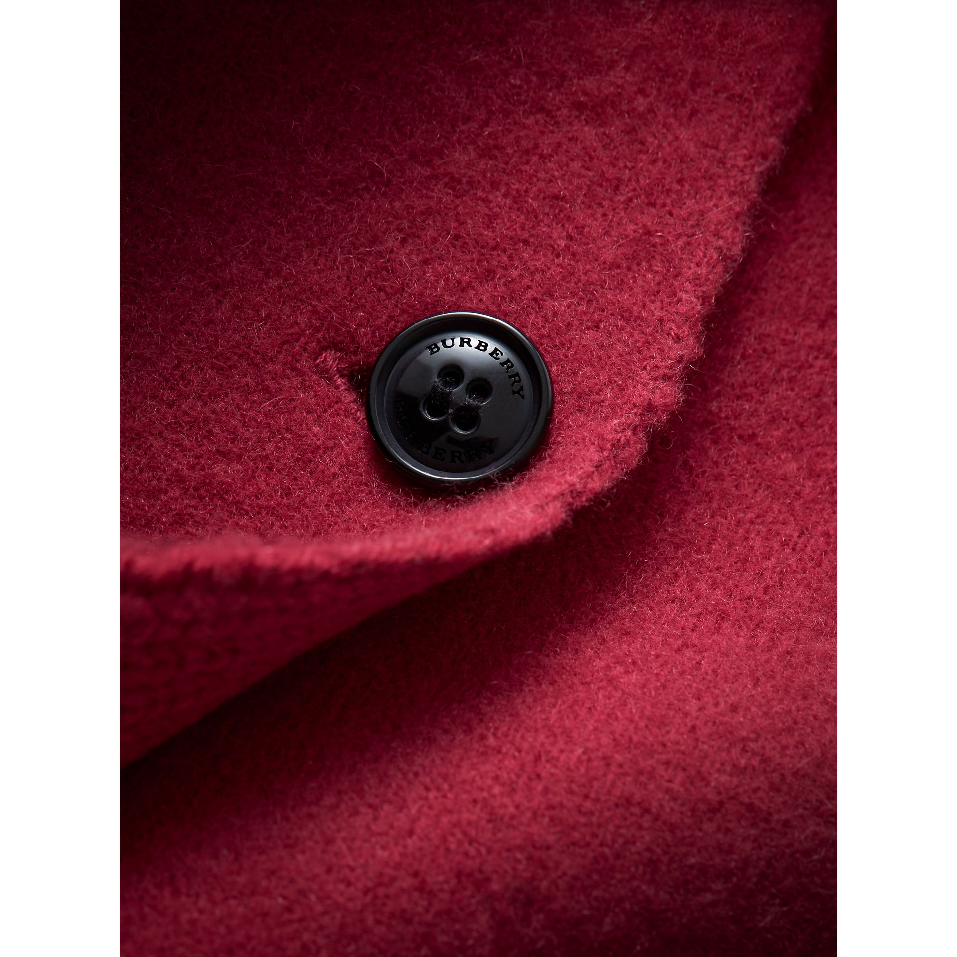 Cashmere Knitted Coat in Dusty Peony Rose | Burberry Australia - gallery image 2