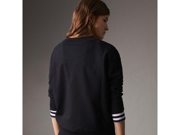 Resin Button Cotton Sweatshirt - Women | Burberry - cell image 1