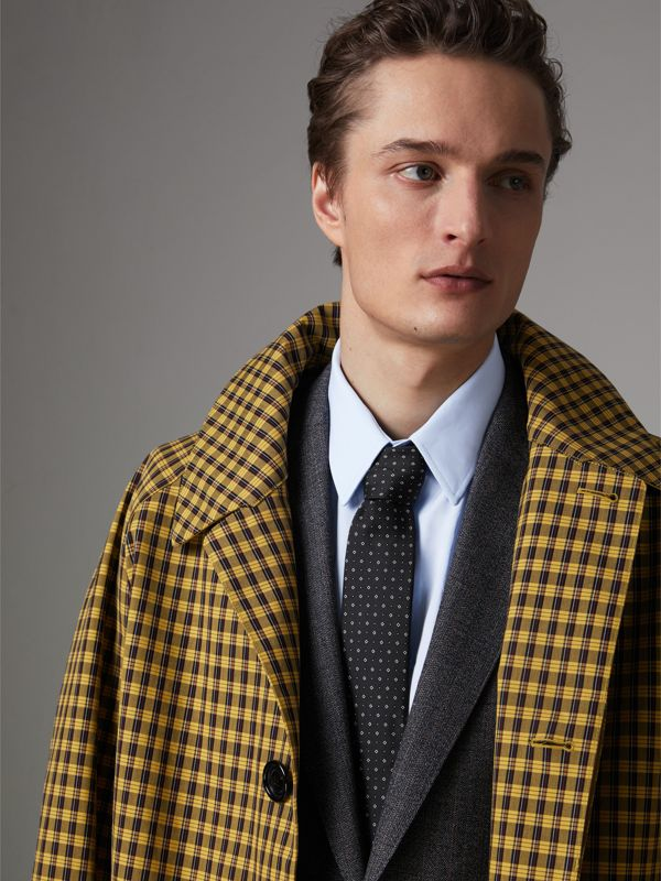 Modern Cut Micro Square Silk Tie in Black - Men | Burberry Singapore - cell image 2