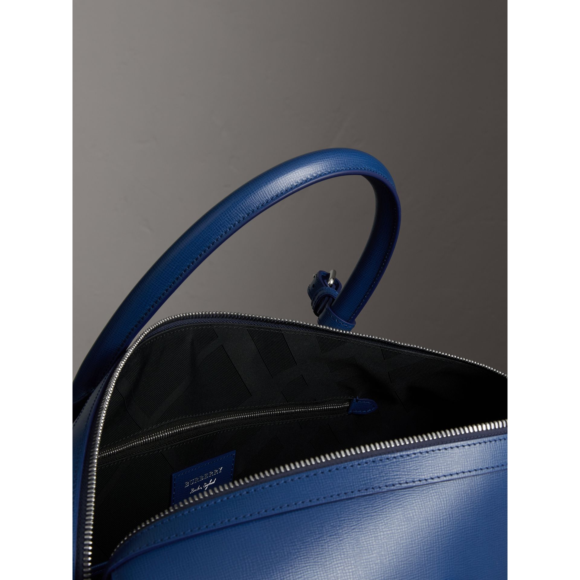 London Leather Holdall in Deep Blue - Men | Burberry - gallery image 6