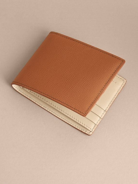 London Leather Bifold Wallet in Tan | Burberry - cell image 3