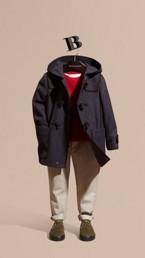 Duffle-coat en laine et cachemire techniques